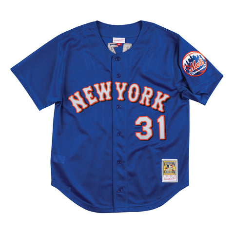Mike Piazza Blue Button Front Batting Practice Jersey