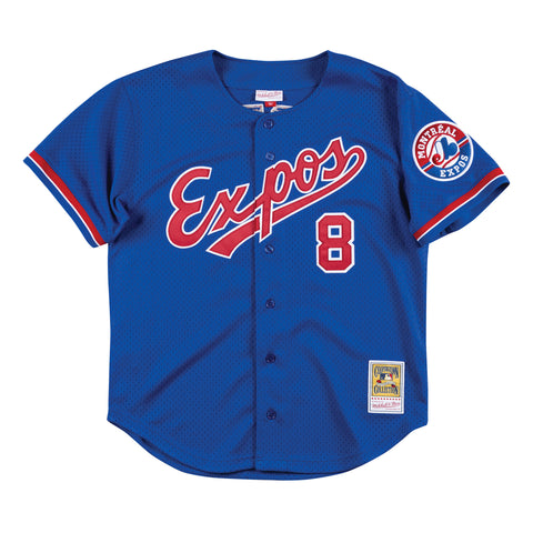 Gary Carter Montreal Expos Button Front Batting Practice Jersey