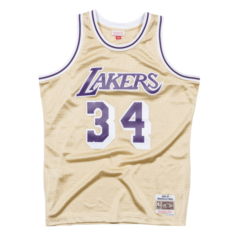 Shaquille O'Neal Gold Los Angeles Lakers Swingman Jersey