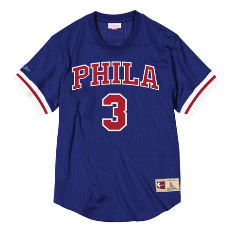 Philadelphia 76ers Mesh Name and Number Crew Neck - Allen Iverson