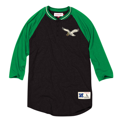Philadelphia Eagles 4 button henley
