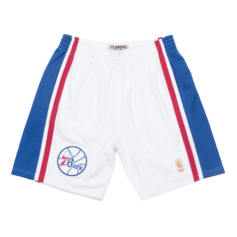 Philadelphia 76ers 96-97 White Swingman Shorts