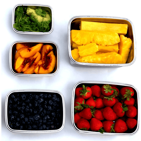 Image of JaceBox lunch containers eat the rainbow salad containers great for sandwiches  fruits and veggies