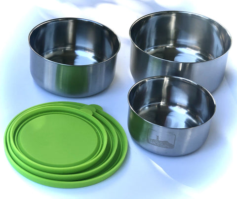 Image of JaceBox 3 convenient sizes Bowls for Acai on the go Take out on the go Fruit bows salads sandwiches nuts on the go Spill proof  leak proof easy to open and close even for artrithic hands