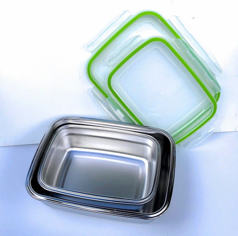 Image of Jacebox Stainless Steel Lunch Containers -New X-Large and Large Lunch box, BPA Free