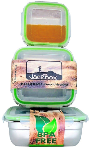 Leak Proof Watertight Stainless Steel Lunch Containers by JaceBox