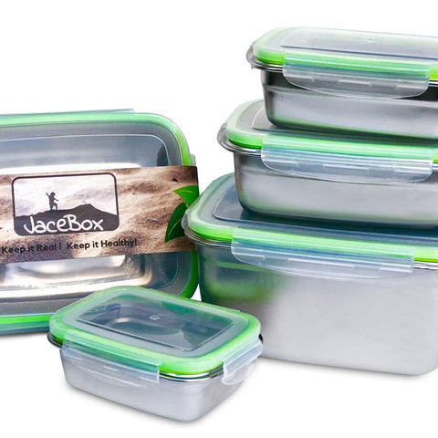 Image of Replacement Lid Set for Super Set of 5 Sizes Small Medium Large X-large XXLarge Jacebox Containers (ONLY LIDS)