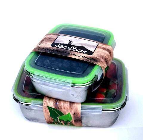 Jacebox Stainless Steel Lunch Containers -New X-Large and Large Lunch box, BPA Free