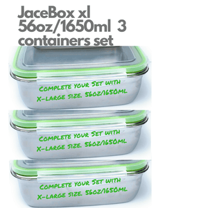 JaceBox Containers sizes Xlarge 3 containers set.