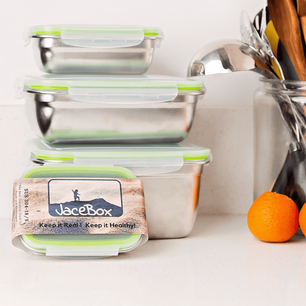 Jacebox food containers set upgrade your food containers with this eco friendly solution and reuse reduce recycle