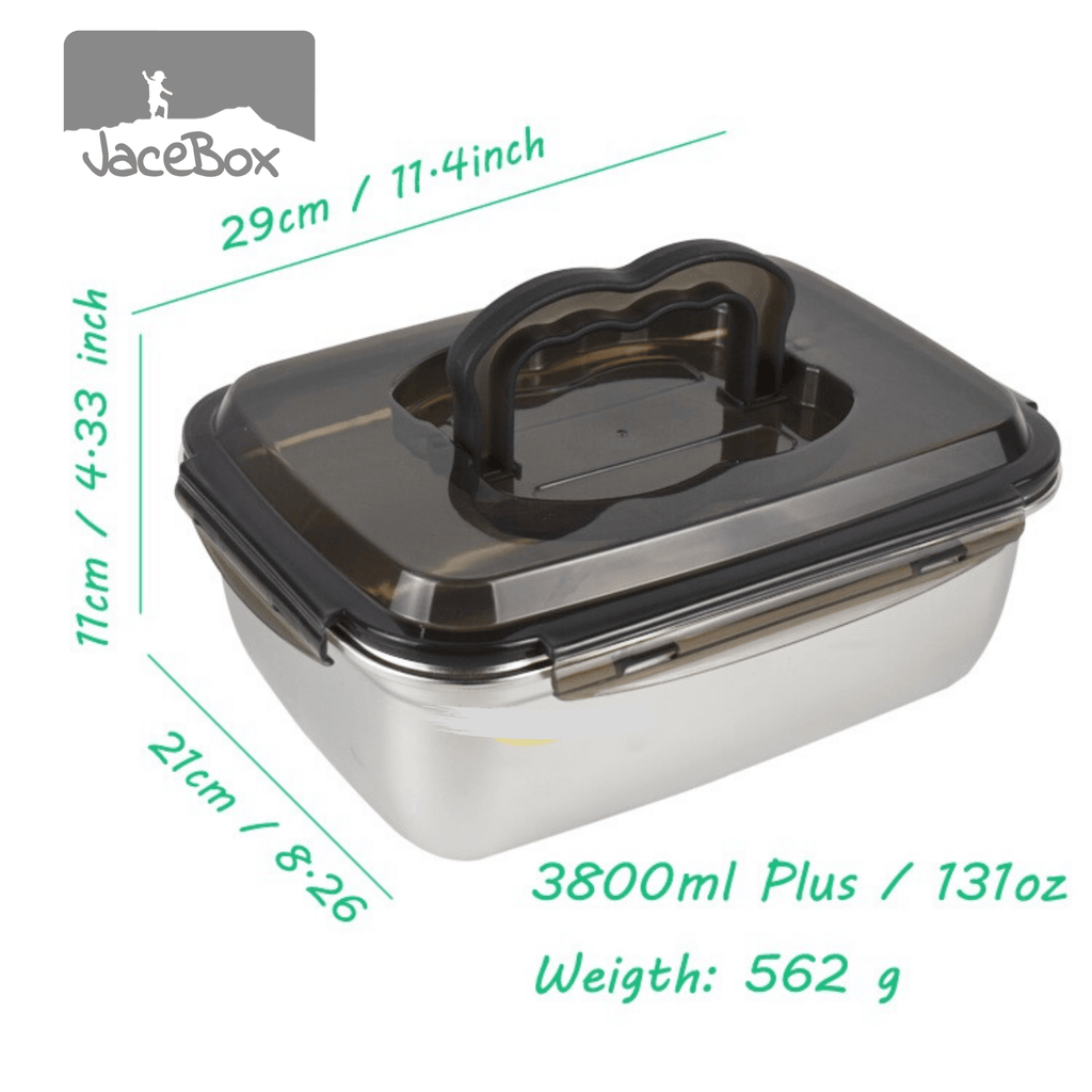 Jacebox Jumbo Containers Handle lid capacity 3.8L / 131oz great for storing grains and rice leakproof airtight pantry containers great as a fishing accessory it can go straight to the cooler food containers meal prep containers kitchen organizing
