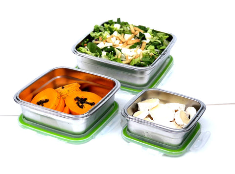 Image of Stainless Steel Lunchbox Airtight leakproof lightweight by JaceBox