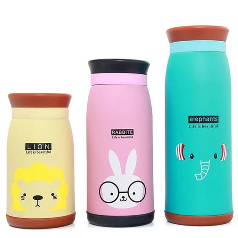 Image of Thermos Water Bottle for Children Student Cute Stainless Steel BPA FREE