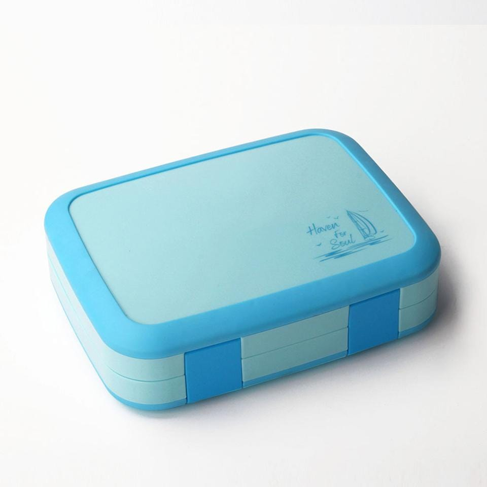 Bento Box 5 compartments Leakproof BPA FREE with Removable Tray Easy to clean Durable and BPA FREE