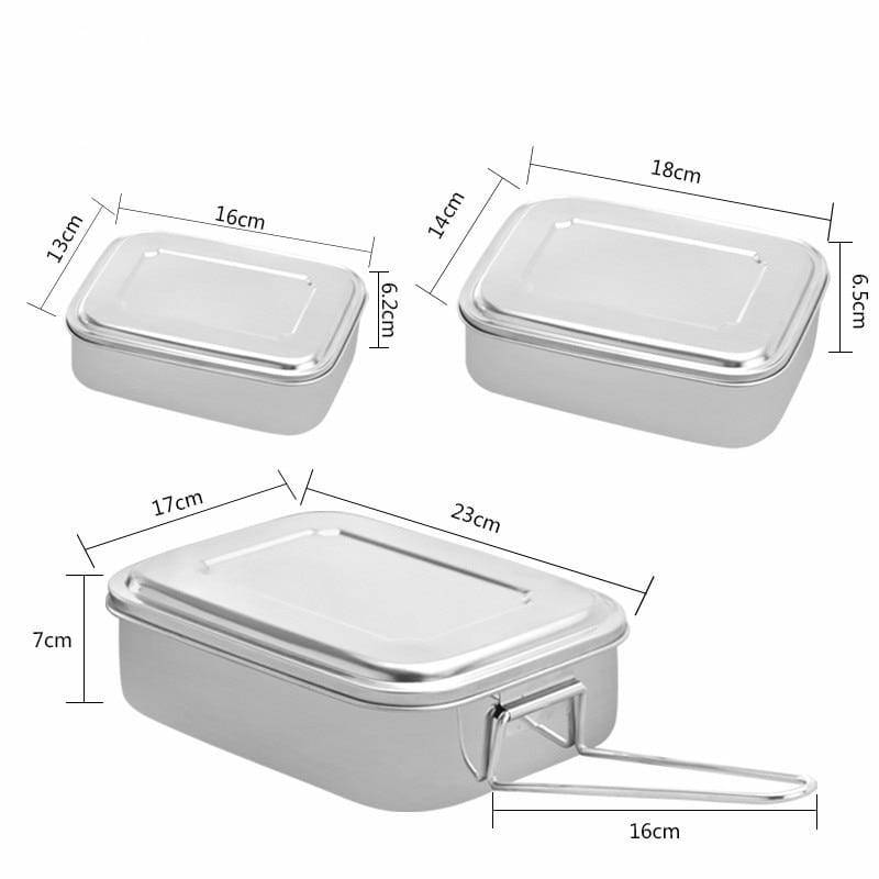 Stainless Steel Bento Lunch Box with compartments