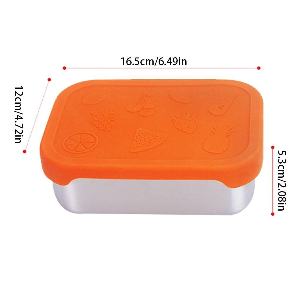 Stainless Steel Bento Box with Silicone Lid  Leak proof Lunch Box