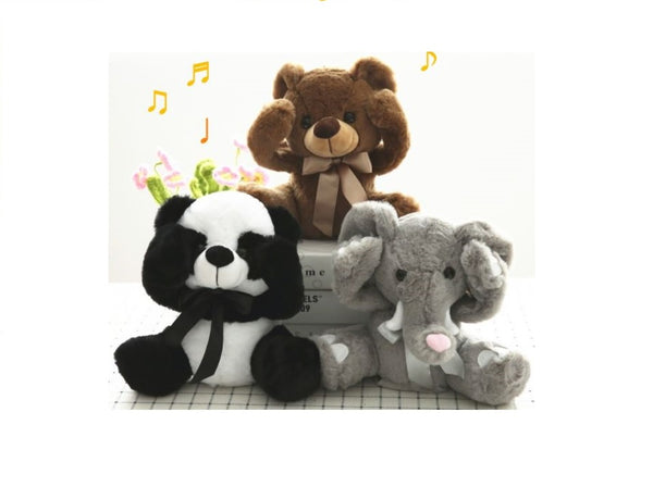 Peek A Boo Panda, Bear,  And Elephant -Musical Plush Animal