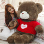 80cm Large Teddy Bear Plush Doll Stuffed Soft Toy Cute Huge Brown Bear Wear A Sweater Kids Toys Birthday Gift for Childrens - Toys 'N' The Attic