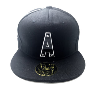 ALPHABET HAT IN BLACK