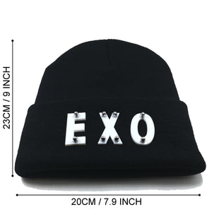EXO BEANIE IN BLACK