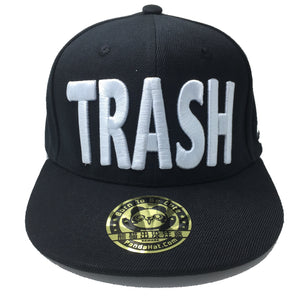 TRASH 3D PUFF EMBROIDERY SNAPBACK HAT