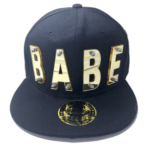 babe hat black gold