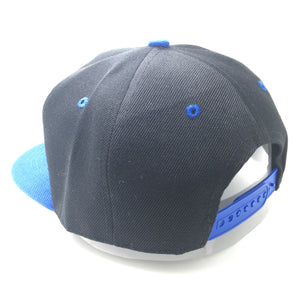 ALLMIGHT HAT IN BLACK WITH BLUE BRIM