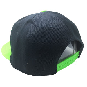 HULK HAT IN BLACK WITH GREEN BRIM