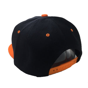 ZENITSU HAT IN BLACK WITH ORANGE BRIM