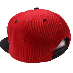 PLUS ULTRA HAT IN RED WITH BLACK BRIM