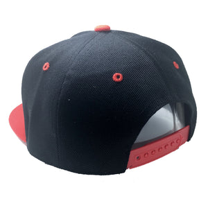 VALOR HAT IN BLACK WITH RED BRIM
