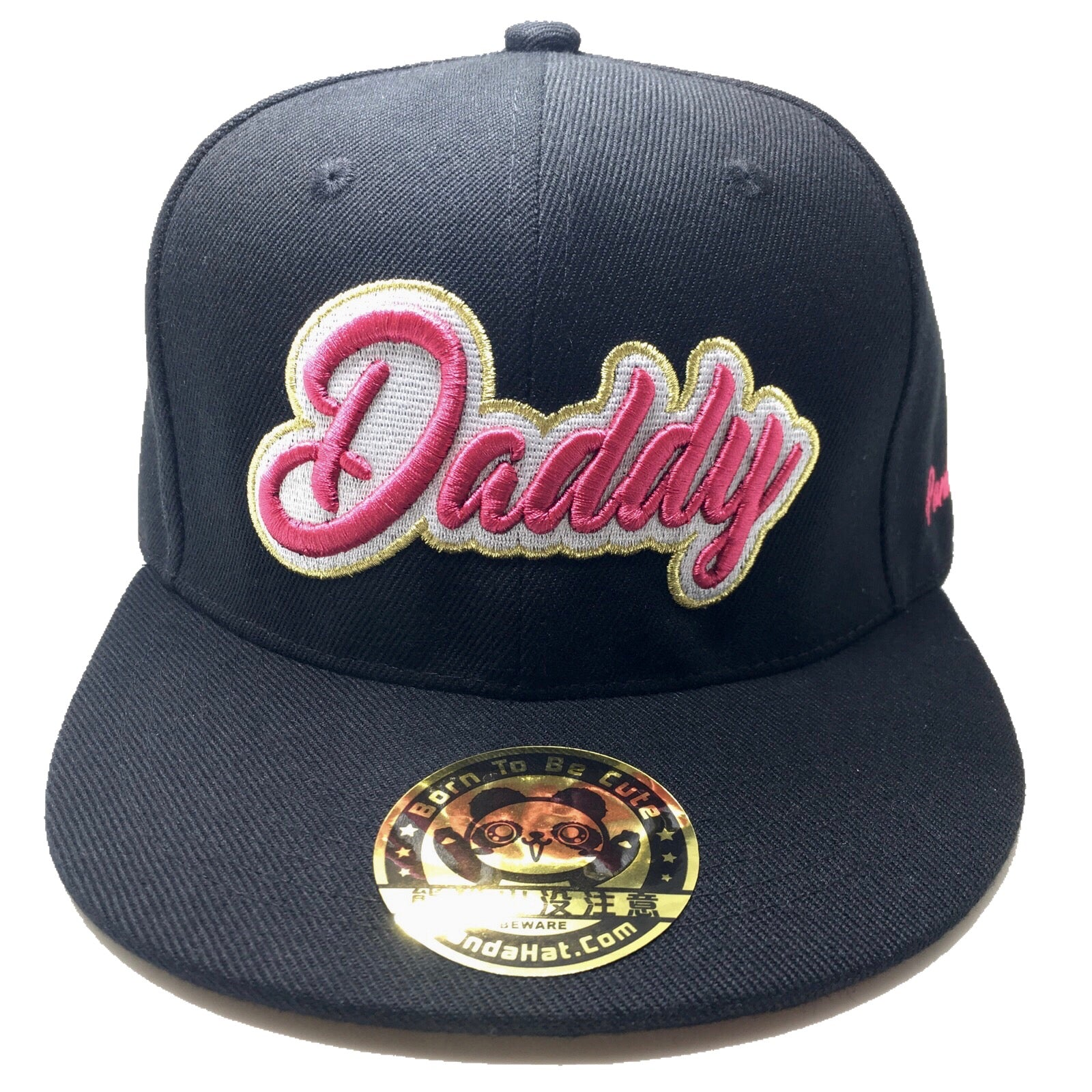 Daddy Cursive 3d Puff Embroidery Hat Pandahat