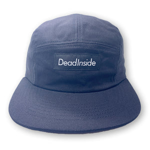 DEADINSIDE 5 PANEL HAT WITH SNAP CLOSURE