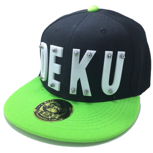 DEKU HAT BLACK GREEN RIGHT