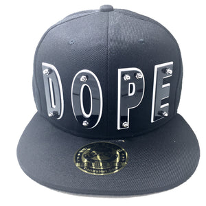DOPE HAT BLACK WHITE