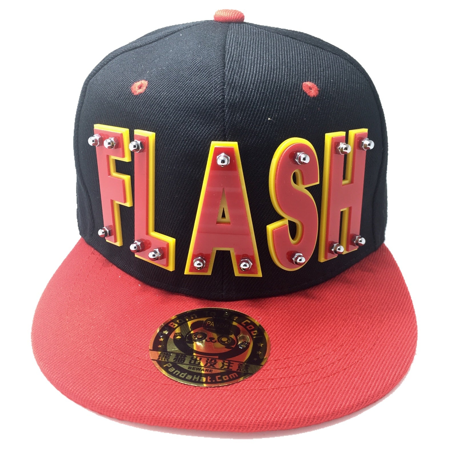Flash Hat In Black With Red Brim Pandahat