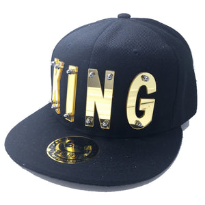 KING HAT IN BLACK