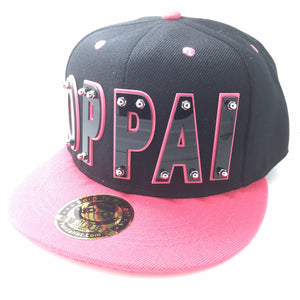 OPPAI HAT IN BLACK WITH PINK BRIM