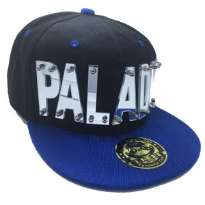 PALADIN VOLTRON HAT IN BLACK WITH BLUE BRIM
