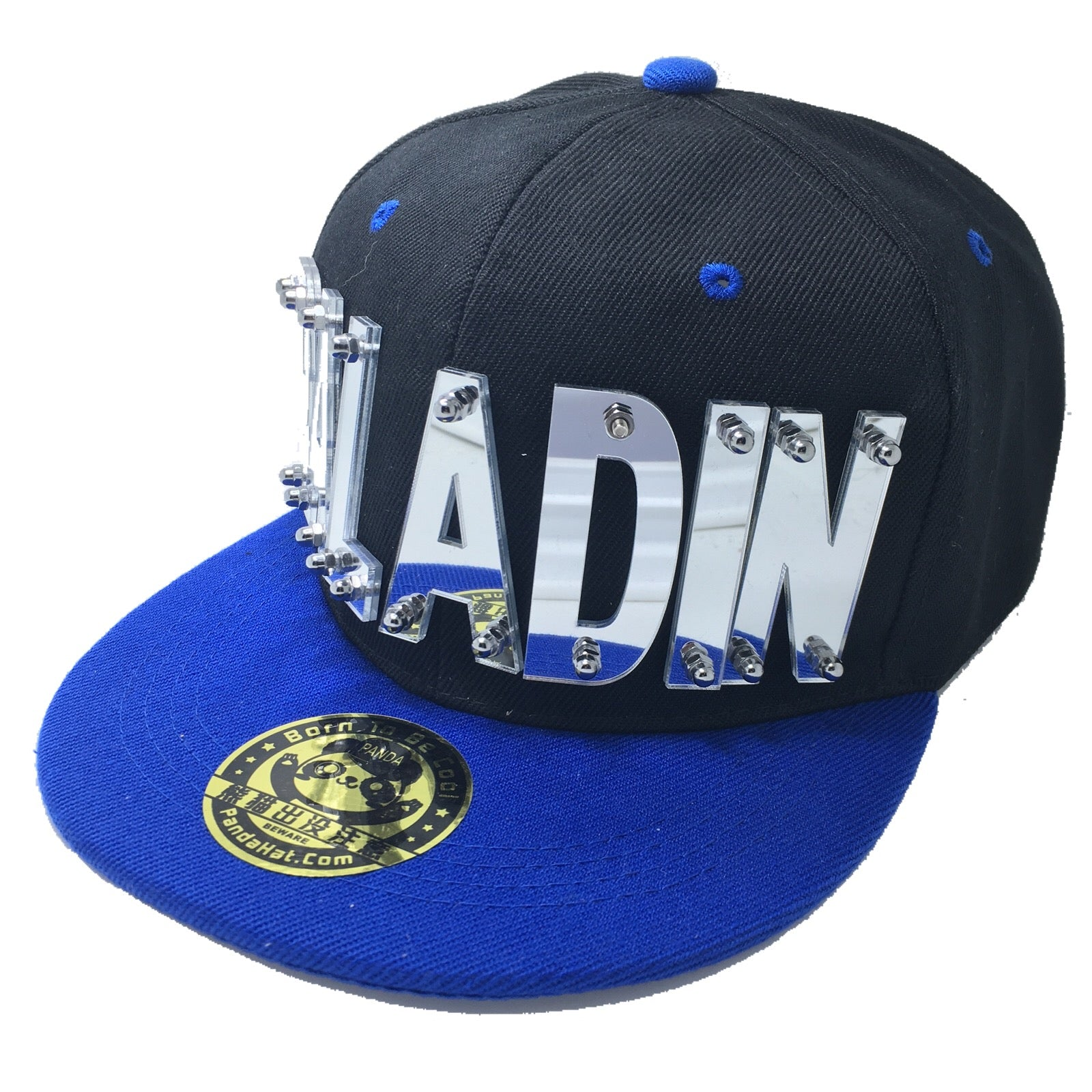 PALADIN VOLTRON HAT IN BLACK WITH BLUE BRIM - Pandahat 0064a195388