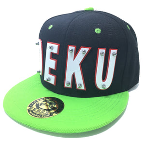 DEKU HAT BLACK GREEN RED TRIM