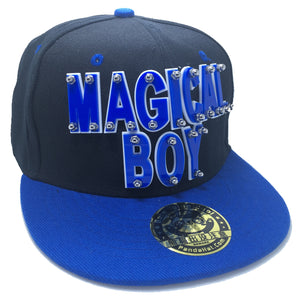 MAGICAL BOY HAT IN BLACK WITH BLUE BRIM