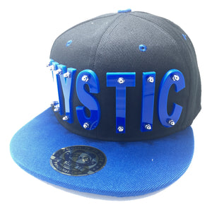 MYSTIC HAT IN BLACK WITH BLUE BRIM