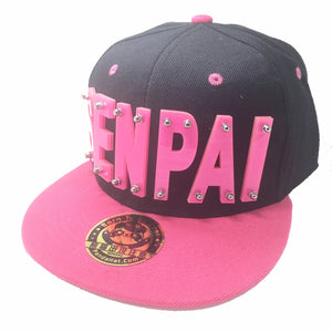 SENPAI HAT IN BLACK WITH PINK BRIM
