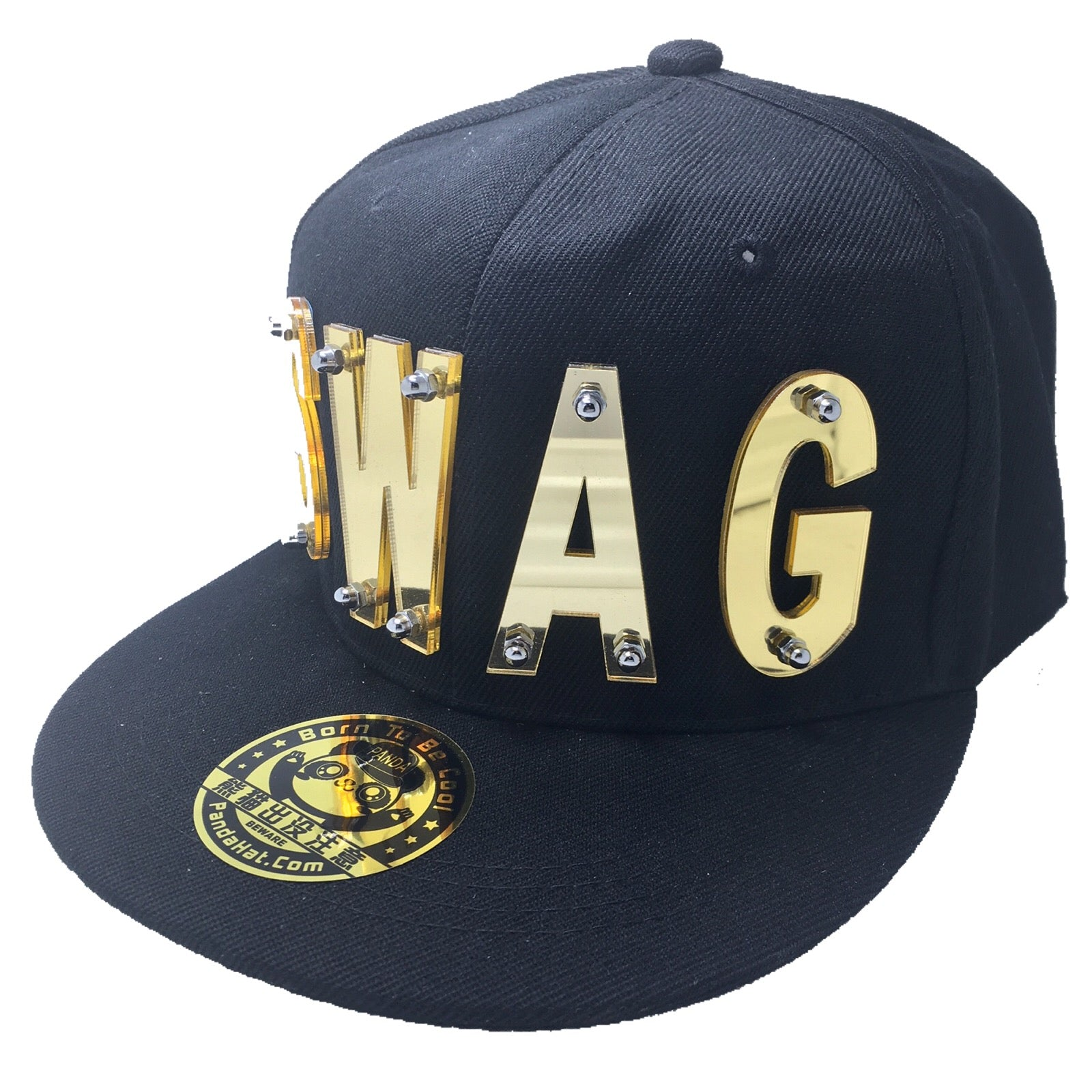 SWAG HAT IN BLACK - Pandahat 847a94a7653