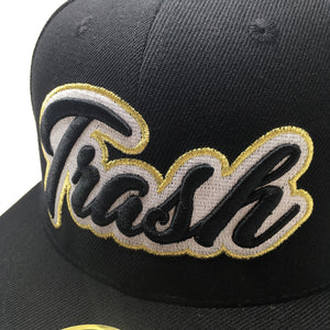 TRASH CURSIVE 3D PUFF EMBROIDERY HAT