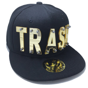 TRASH HAT BLACK GOLD LEFT