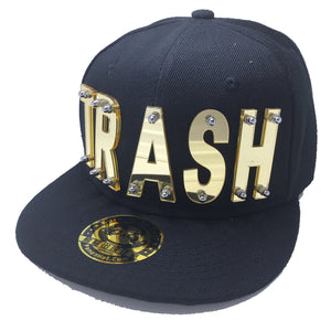 TRASH HAT BLACK GOLD RIGHT