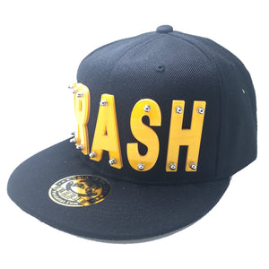 TRASH HAT BLACK YELLOW RIGHT