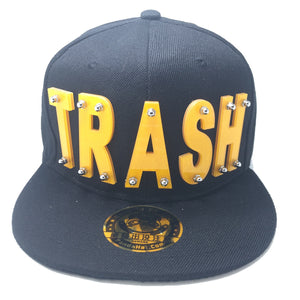 TRASH HAT BLACK YELLOW